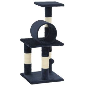 Ansamblu pisici, stâlpi din funie sisal, 65 cm, bleumarin