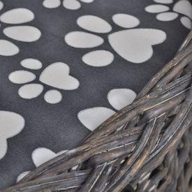 Ansamblu salcie casă pisici/pat/stâlp pentru gheare cu pernă