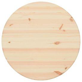Blat de masă, 28 mm 60 cm, lemn natural de pin, rotund