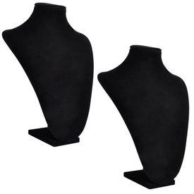Bust negru prezentare coliere 23 x 11,5 x 30 cm, 2 buc