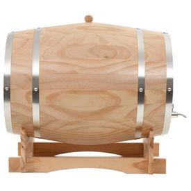 Butoi de vin cu robinet, 35 L, lemn masiv de pin