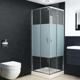Cabină de duș, 80x80x185 cm, sticlă securizată