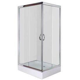 Cabină de duș cu cădiță, dreptunghiulară, 100 x 80 x 185 cm