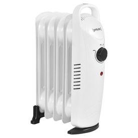 Calorifer electric cu ulei AAEH-8520, 24 x 13,4 x 37 cm, 500 W, 230 V, Polipropilena/pulbere otel sinterizat, alb cu 5 elementi, termostat reglabil in trepte