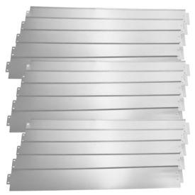 [casa.pro]® Set 15 bucati bordura decorativa pentru gradina - 15m - argintiu