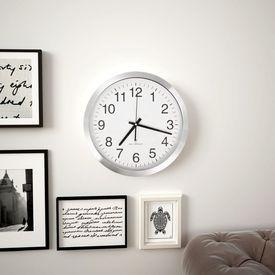Ceas de perete controlat prin semnal radio, 35 cm, metal