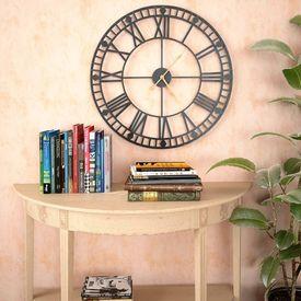Ceas de perete vintage, cu cuarț, mecanism metal, 60 cm, XXL