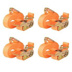 Chingi fixare cu clichet, 4 buc 0,8 tone 6m x 25mm, portocaliu