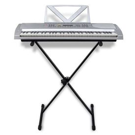 Claviatură electronică 61 clape cu suport ajustabil și pentru note