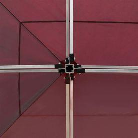 Cort de petrecere pliabil cu pereți, roșu vin, 6x3 m, aluminiu