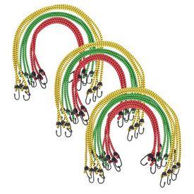 Corzi elastice 30 buc, 60/80/100 cm, roșu, galben, verde