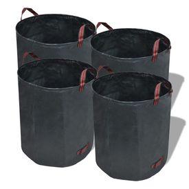 Coșuri de gunoi 120 L 150 g/mp 4 buc, Verde închis
