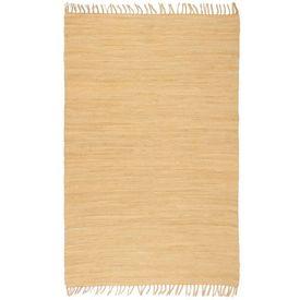 Covor Chindi țesut manual, bumbac, 200 x 290 cm, bej