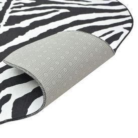 Covor decupat cu imprimeu zebră, 70 x 110 cm