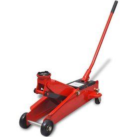 Cric hidraulic de podea cu profil jos, până la 3 tone, roșu