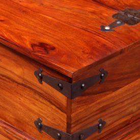 Cufăr de depozitare, lemn masiv de sheesham, 90 x 50 x 35 cm