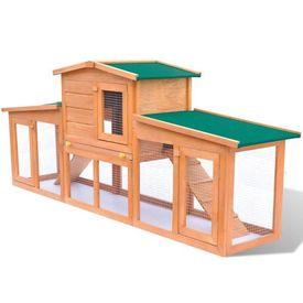 Cușcă iepuri pentru exterior sau animale mici spațioasă din lemn