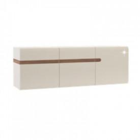 Dulap suspendabil alb extra luciu ridicat HG/stejar sonoma inchis la culoare truflu GL LYNATET TYP 67