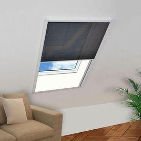 Ecran insecte pentru ferestre, aluminiu, 80x100 cm