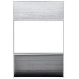 Ecran insecte pentru ferestre, cu umbrar, aluminiu, 80x120 cm