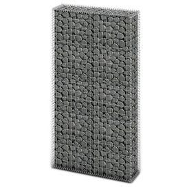 Gabion din coș de oțel, 85x30x200 cm, argintiu
