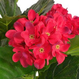 Hortensie artificială cu ghiveci 60 cm, roșie