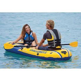 Intex Set barcă gonflabilă Challenger 2 cu vâsle și pompă, 68367NP