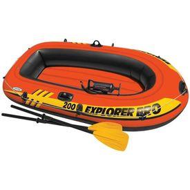 Intex Set barcă gonflabilă Explorer Pro 200 cu vâsle și pompă, 58357NP