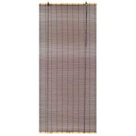 Jaluzea bambus 120 x 160 cm Maro închis