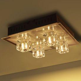 Lustră LED RGB cu Abajur 4 becuri cu Lumină colorată
