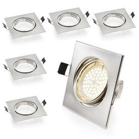 [lux.pro]® 5 x Lampa SPOT incorporabila - carcasa otel - patrata