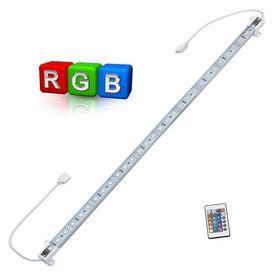 [lux.pro]® linie LED aluminiu - iluminat indirect - 1 x 50cm - RGB colorat