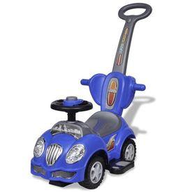 Mașină de jucărie pentru copii, cu împingere, albastru