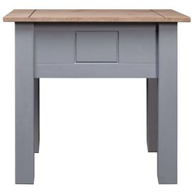 Noptieră, gri, 50,5 x 50,5 x 52,5 cm, lemn de pin, gama Panama