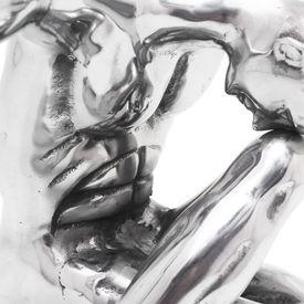 Obiect decorativ Gânditorul, aluminiu, argintiu