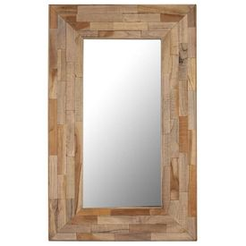 Oglindă, 50 x 80 cm, lemn de tec reciclat