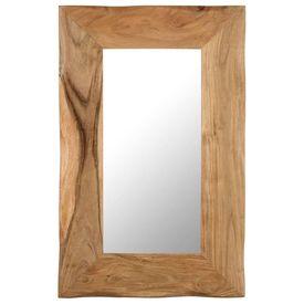 Oglindă cosmetică, 50 x 80 cm, lemn masiv de acacia
