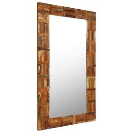 Oglindă de perete, lemn masiv reciclat, 60 x 120 cm