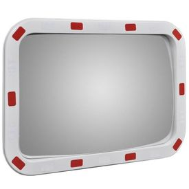 Oglindă rutieră dreptunghiulară convexă cu reflectoare 40 x 60 cm
