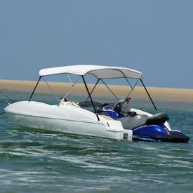 Parasolar barcă Bimini-Top alb 140 x 140 cm