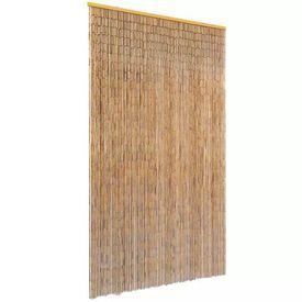 Perdea de ușă pentru insecte, bambus, 120x220 cm