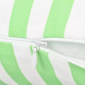 Perne de exterior, 2 buc., verde măr, 45x45 cm, imprimeu dungi