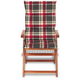 Perne pentru șezut 117x49 cm, roșu și verde, 6 buc.