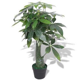 Plantă artificială Arborele norocos cu ghiveci, 85 cm, verde
