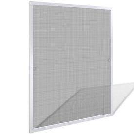 Plasă albă pentru ferestre împotriva insectelor 80 x 100 cm