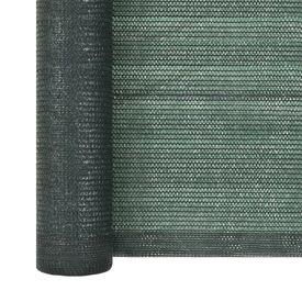 Plasă protecție vizuală, verde, 2 x 10 m, HDPE