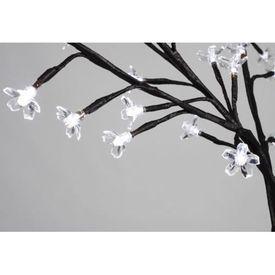 Pom Crăciun, LED-uri lumină albă, flori de cireș, 120 cm