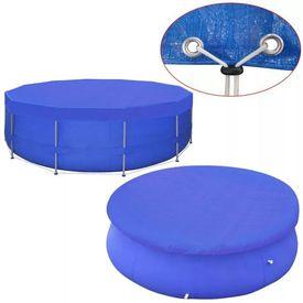 Prelată piscină din PE, rotund, 460 cm, 90 g/m²