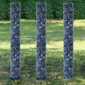 [pro.tec]® .Gabion -cos piatra cos de sarma set 3 bucati (25x25x200cm)