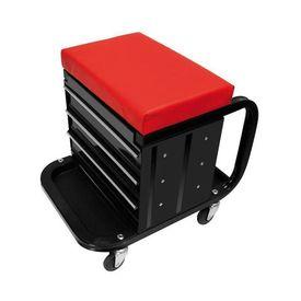 ProPlus scaun de atelier mobil cu role și spațiu depozitare 580526